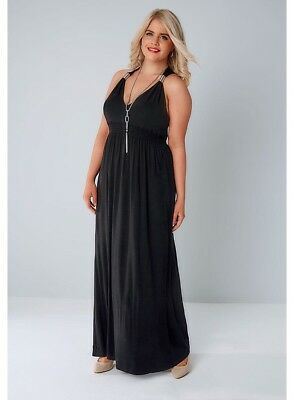 Women's Yours Clothing Black Maxi Dress Size 22