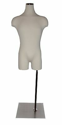 Male Display Form Mannequin with Metal Neck Block and Base - Free Shipping!