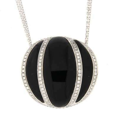 Chimento CHIMENTO NECKLACE WITH BLACK STONE 1G05140B15450 J181