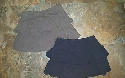 The childrens place Girls Gray and Black Skirts Size 7-8 Medium