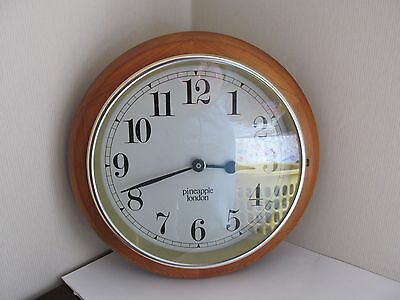 Vintage Station or School style wall clock - wooden case with quartz mechanism