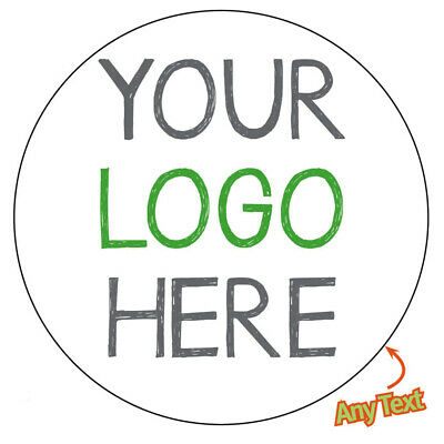 LOGO Printed Round Stickers Custom Logo labels postage labels Personalised 887