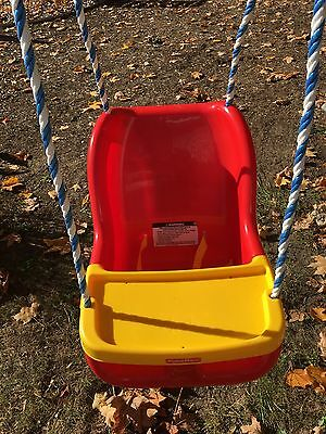 Toddler red swing by Fisher Price