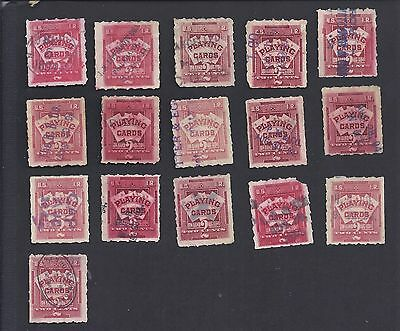 US RF1, sixteen with various cancellations
