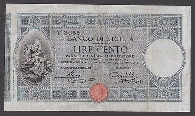 100 Lire From Italy 1896