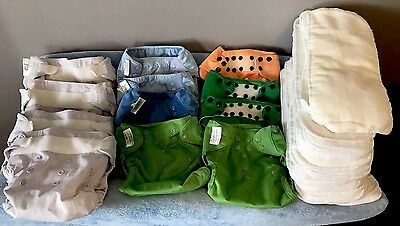 Bumgenius FLIP Cloth Diaper Lot-Covers, Inserts and Ka Waii Baby Pocket Diapers
