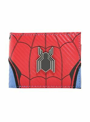 New Marvel Comics Spider-Man: Homecoming Metallic Badge Bi-Fold 3 Card Wallet