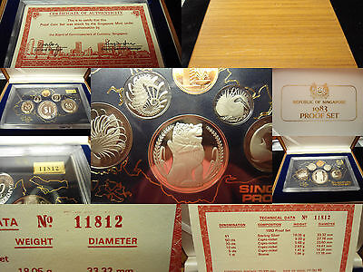 Republic of Singapore 1983 PROOF SET Wooden Box with Certificate