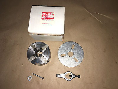 "Sherline 1044  2.5""  4 Jaw Independent Chuck 3/4 - 16 for Mini Lathe.      1A"