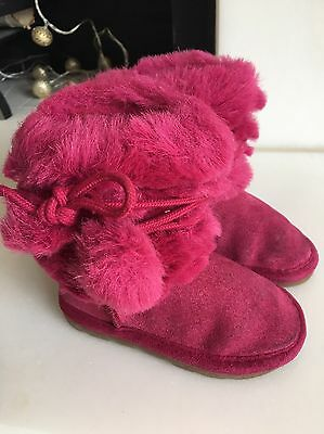 Girls Pink Boots from Next, Size 4