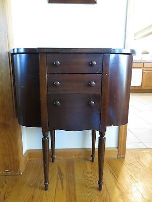 Vintage Martha Washington Style Sewing Cabinet