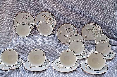 Vintage Heinrich and Co. Selb Bavarian Porcelain Cups and Saucers (12)