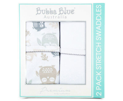 Bubba Blue Mod The Owl Stretch Swaddles 2-Pack