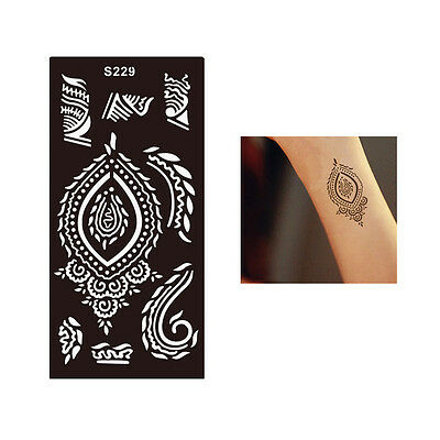 Henna Lace Festival Temporary Tattoo Henna Arm Hand Stencils Reusable Template