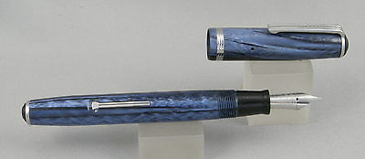 Esterbrook J Blue & Chrome Fountain Pen - 9550 Extra Fine Nib - 1940's