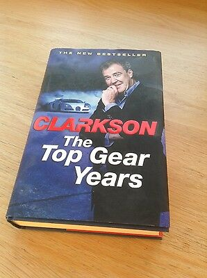 clarkson The Top Gear Years - hardback book in excellent condition