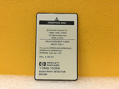 HP / Agilent 11946-10004 Rev: A.00.03 Quasi-Peak Detector Drive Measurement Card