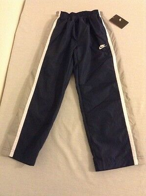 NWT Boys 7 Nike Athletic Navy w/ Grey White Stripes Soccer Pants New Tags Warmup