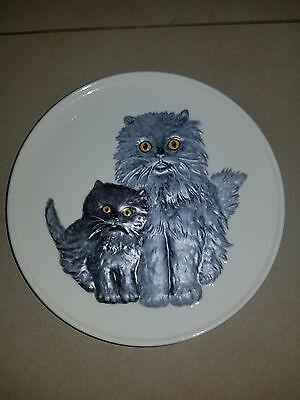 Goebel Mothers Series Collectible Plates-babies-cats-kittens-decor-vintage-retro