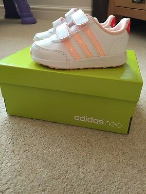 BNWB baby girl adidas trainers Size 5