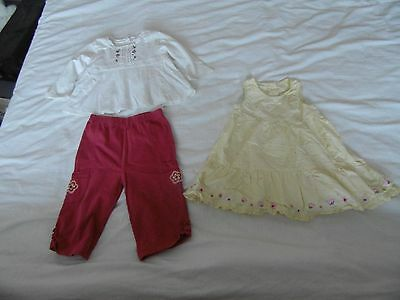 Girls summer outfit and mothercare dress age 6-9 months