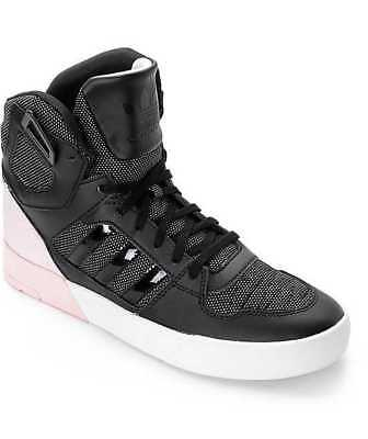 new concept 090c1 6707e New In Box Women s 6 6.5 Adidas Zestra W Black White Pink Skate Shoes Aq4795