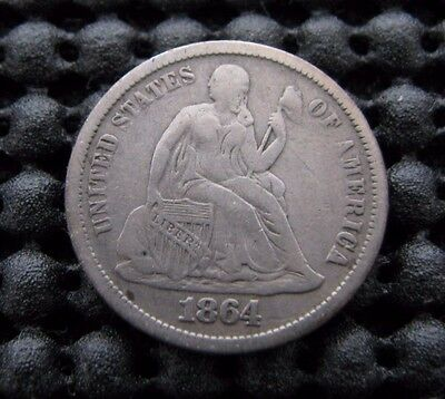 Super Nice 1864-s Seated Dime