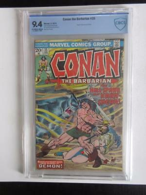 Conan The Barbarian # 35 - CBCS NEAR MINT 9.4 NM - MARVEL 1974 Look Comics!!