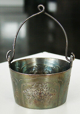 ORNATE Victorian Antique Silver Signed PORRET Tea Diffuser/Strainer Basket Ball