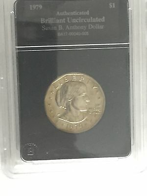 RARE-1979 Susan B. Anthony Dollar-Authenticated and Brilliant Uncirculated