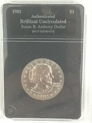 RARE-1981 Susan B. Anthony Dollar-Authenticated and Brilliant Uncirculated