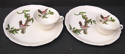 6  Alfred Meakin Birds Of America Snack Trays And Cups