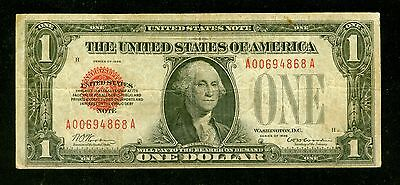 1928 $1 One Dollar Red Seal United States Small Size Note  AA Block          m