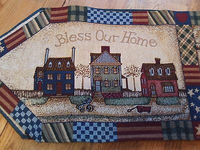 """""""bless Our Home"""" Lifestyles 72"""" Table Runner"""