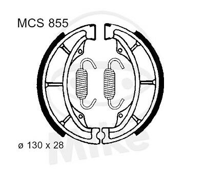 Trw Lucas Brake Shoes With Spring Mcs907 Rear Hyosung Gv 250 I