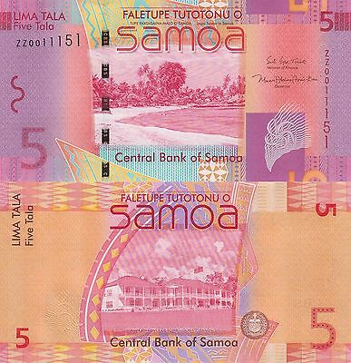 Samoa 5 Tala (2008/2017) - New Sign/Replacement Note UNC