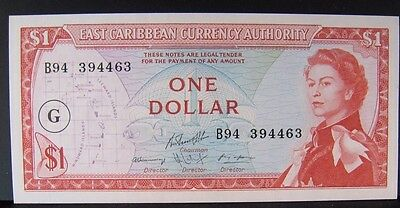 1965 East Caribbean, Currency Authority $1 Dollar Note CU** FREE U.S SHIPPING**