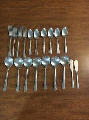 19 Vtg National Silver NS Co EPNS Silverplate Flatware