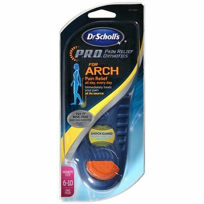 Dr. Scholls PRO For Arch Insoles Pain Relief Orthotics Women's Size 6 - 10