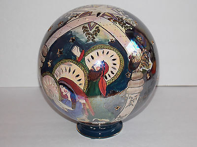 BLUE SKY Nativity Globe by Heather Goldminc Clayworks - 2000
