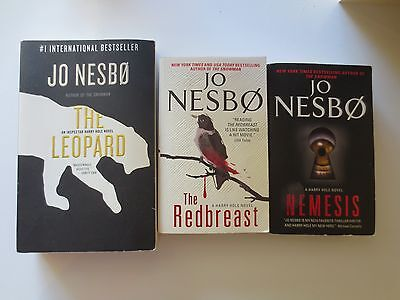 Nice 3pc Lot Used Jo Nesbo Norwegian Crime Thrillers Paperback Books The Leopard