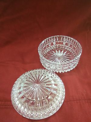 Antique Vintage Crystal Depression Glass Candy Dish
