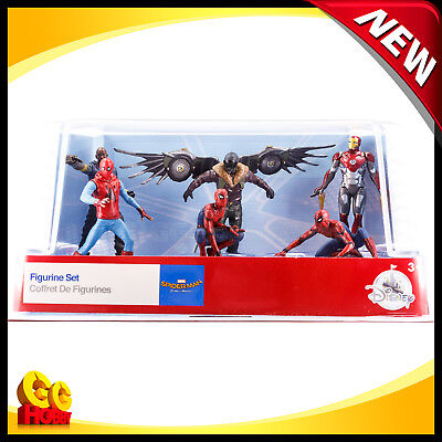 Spider-Man Homecoming 6-Figure Cake Topper Playset Iron Man Vulture Shocker NEW
