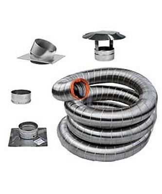 "Wood Heater 6"" Vortex Stainless Flex Liner Kit (25 ft) - Fireplace"