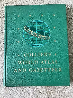 Collier's World Atlas And Gazetteer 1942 Hardback