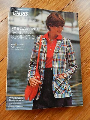 Vintage 1981 Montgomery Ward Spring & Summer Department Store Catalog Book