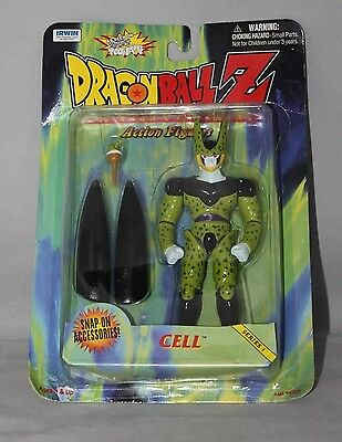 "1999 Irwin Dragon Ball Z ""CELL"" Series 3 Action Figure- Brand New in Box!"