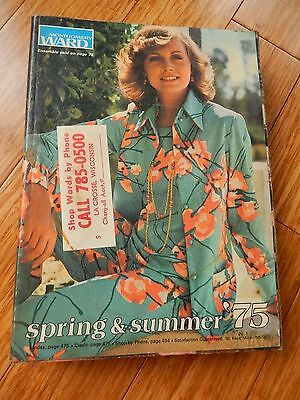 Vintage 1975 Montgomery Ward Spring Summer Department Store Catalog Book