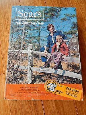 Vintage 1975 SEARS Fall Winter Department Store Catalog Book