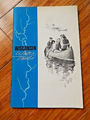 Vtg 1972 Wisconsin Water Trails Planning 48 different Canoe Trips 58 pp Booklet
